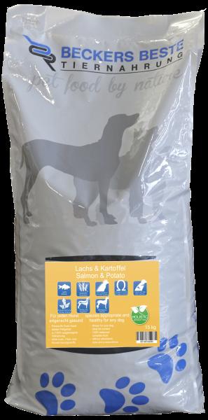Premium Hundefutter Lachs & Kartoffel 15kg
