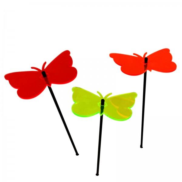Large SunCatcher Set of 3 'Gatekeeper Butterfly'