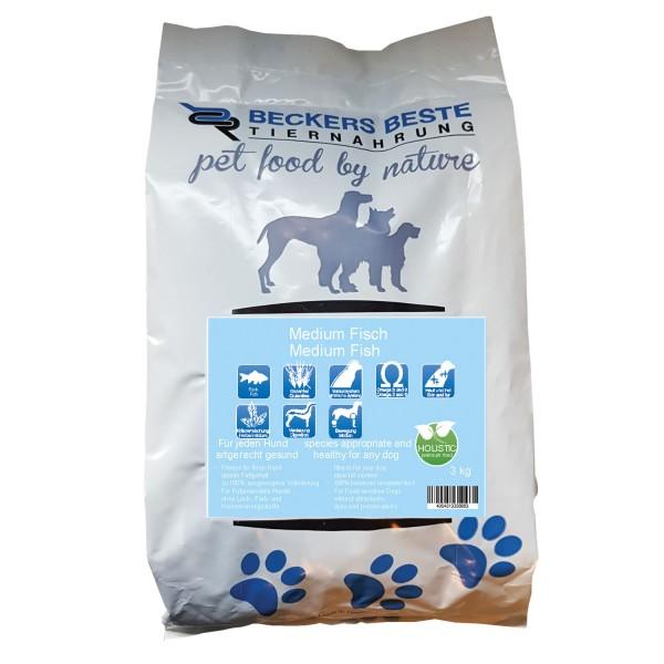 Premium Hundefutter Medium Fisch 3 kg