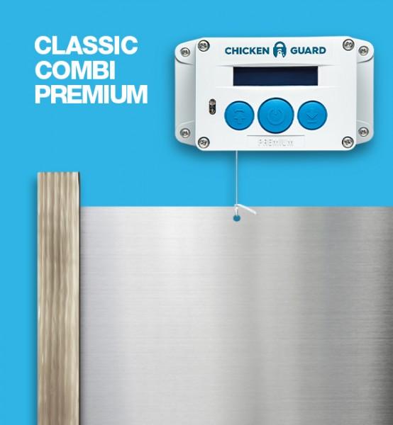 ChickenGuard © Premium, automatische Hühnerklappe - Combi - mit Classic Door Kit