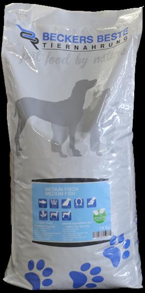 Premium Hundefutter Medium Fisch 14 kg